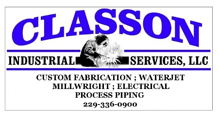 Classon Industrial Services, LLC. 354 Burson Road Camilla, GA. 31730